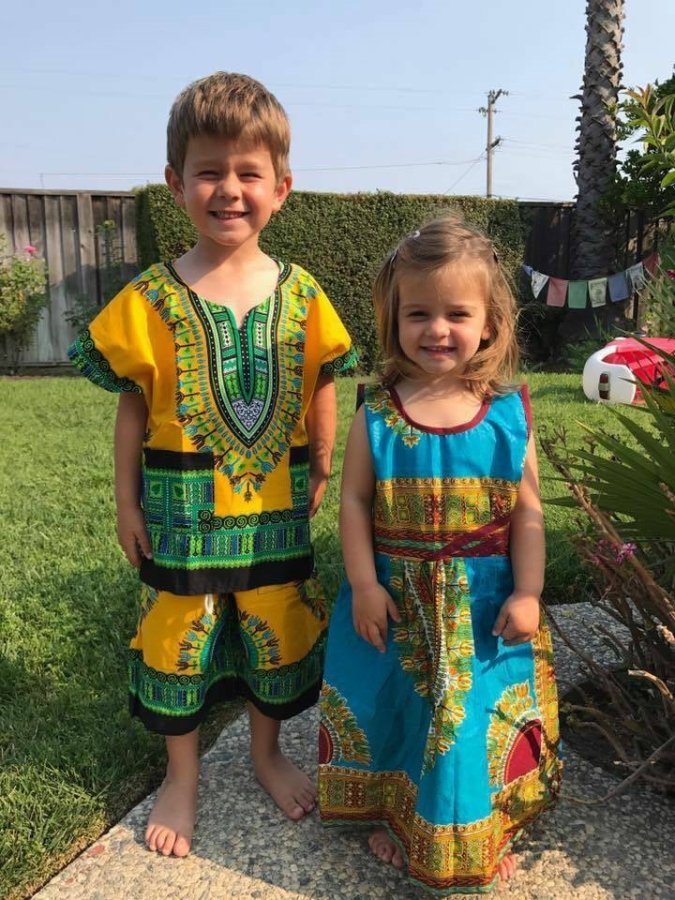 Incredible American Children Rock Nigerian Clothes  Daily Family Ng-6468