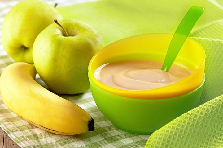 Image result for banana apple puree for baby