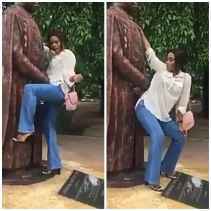 Shocking Unilag Student Rusticated For Twerking To Former School Vcs Statue  Daily -4199